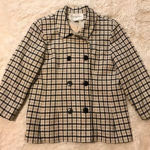 "[Christian Dior] Plaid ""The Suit"" Blazer Jacket ❤️"